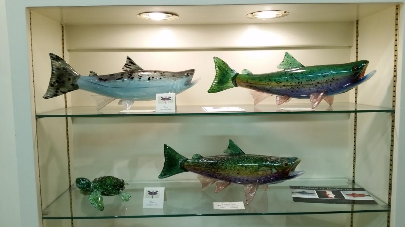 Local artist Michael Hopko offers his nationally prized glass art in our gallery.