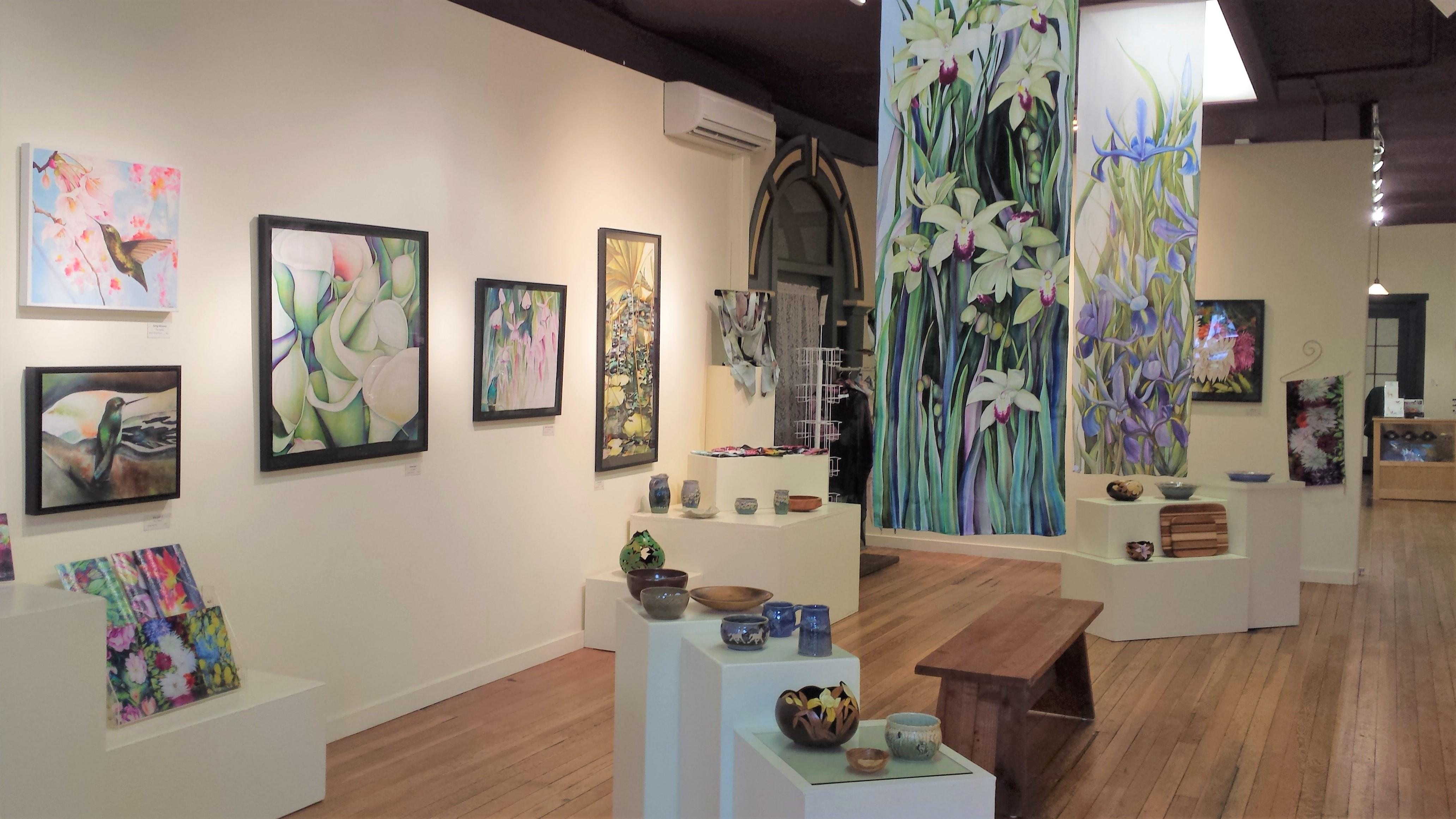 Come take a peek at the vibrant display of local art.