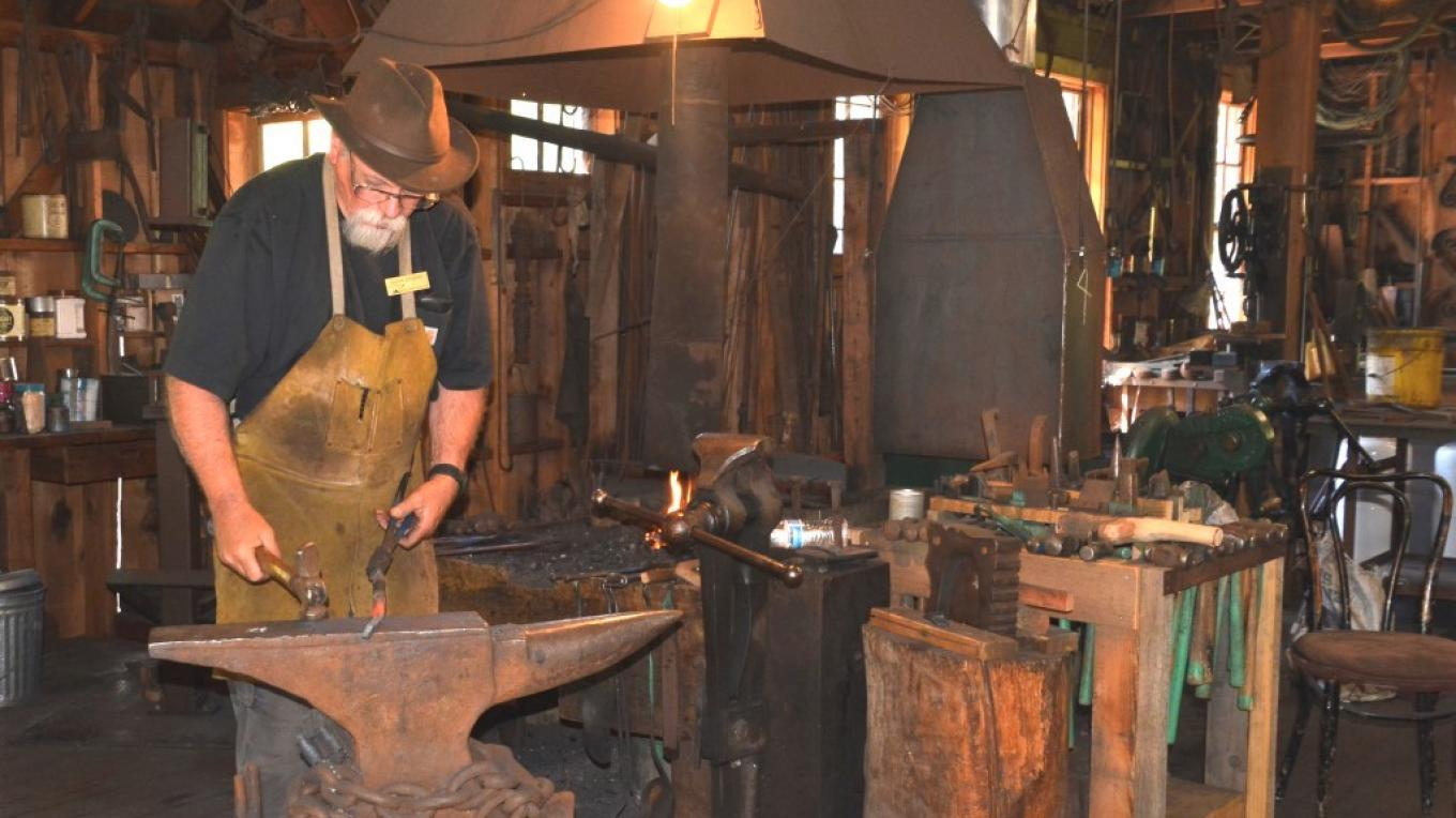 Classes are conducted by senior blacksmiths throughout the year in the art of blacksmithing.