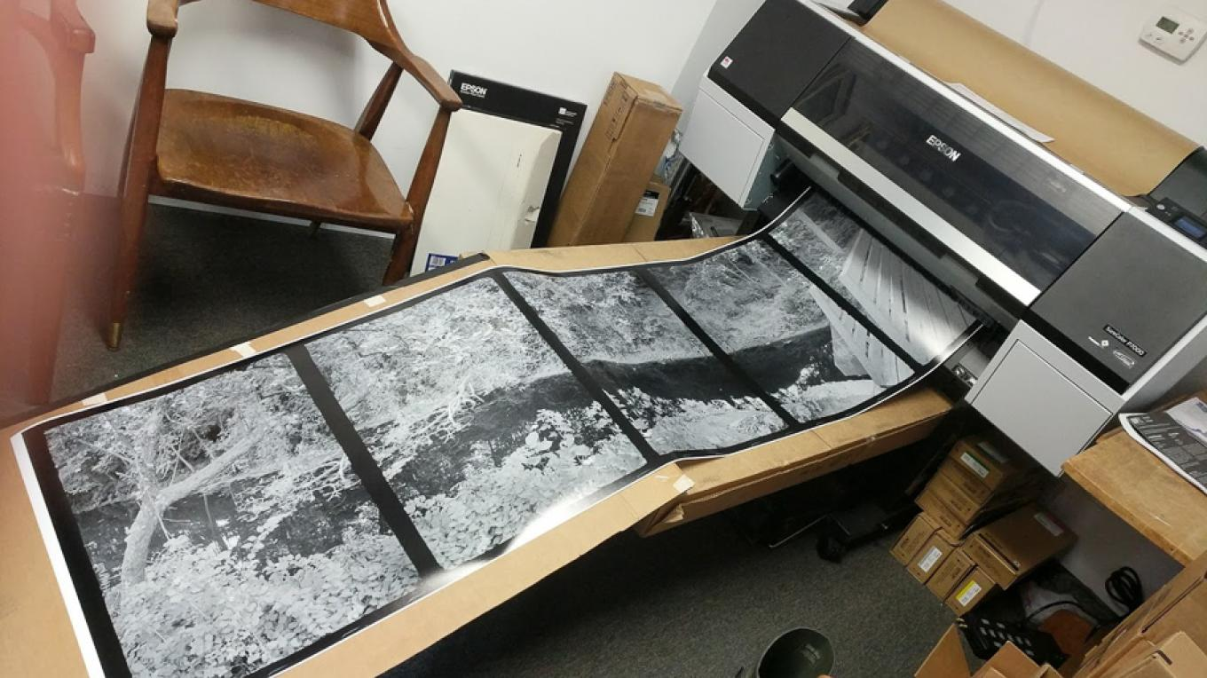 Printing a 14' panorama made from 35mm film. – Robert Doyle