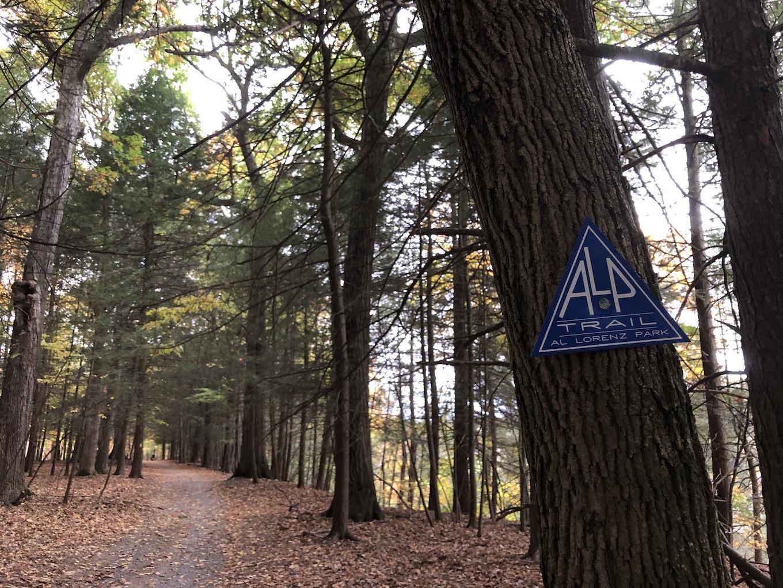 Al Lorenz Park Trail Marker, Mount Morris