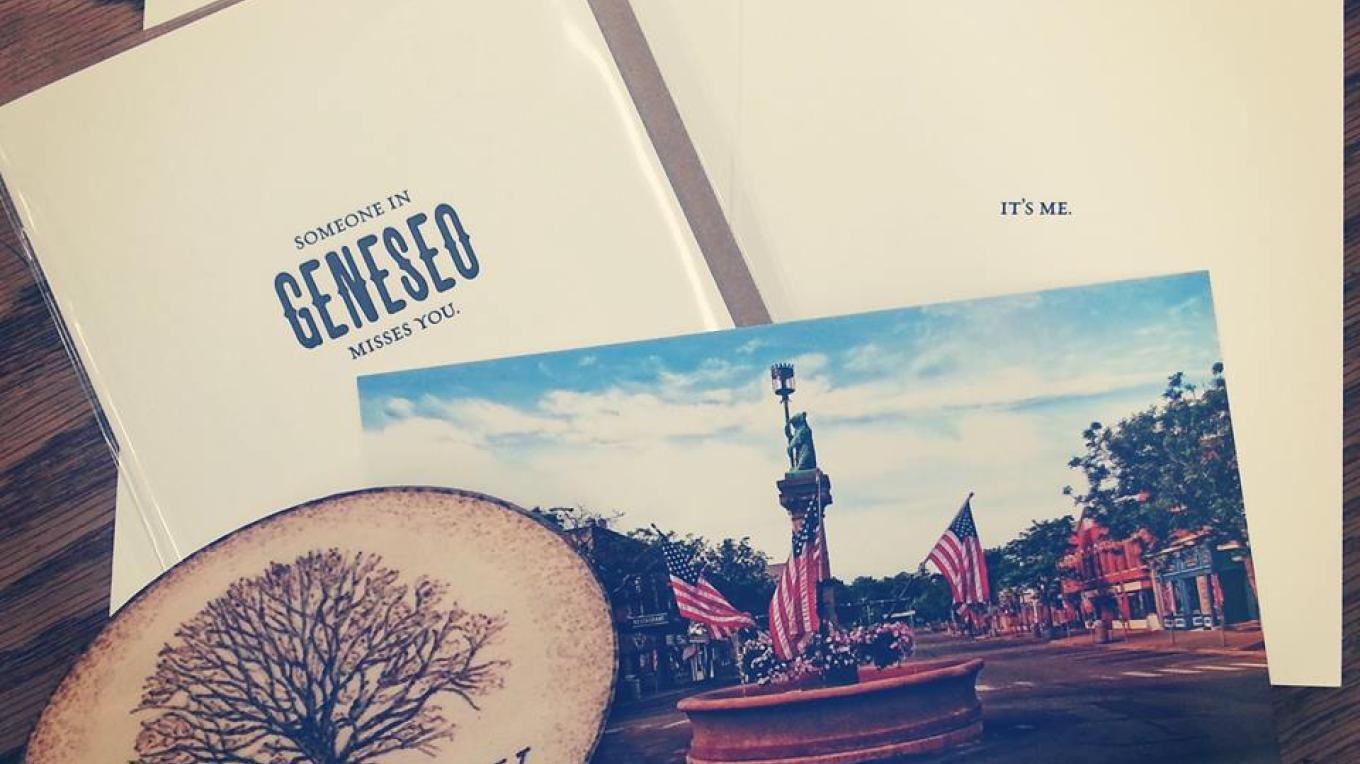 Custom Local Geneseo NY Postcards, Letter Press Greeting Card, and handmade, locally made Magnets of the Big Tree Oak Tree