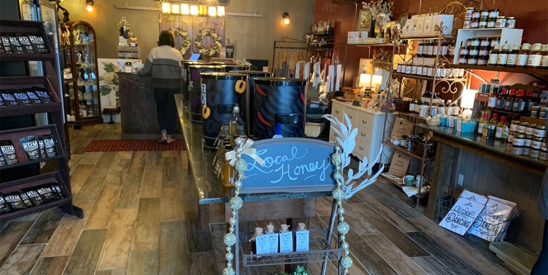 The inside of Honeygirl Gourmet on Geneseo's Main Street.
