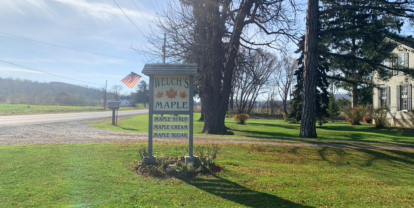 The sign for Welch's Farm Market. Photo by Katie Sutor.