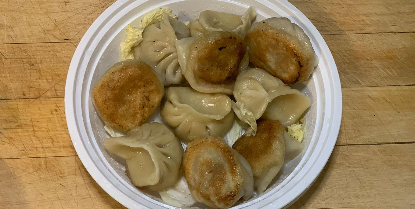 Fried pork dumplings. Photo by Katie Sutor.