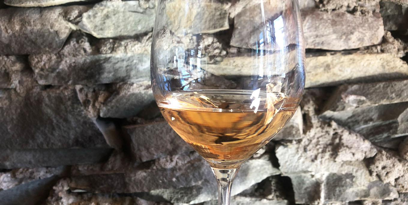A glass of rosé wine at Ration Wine Bar. Photo by Sarah Keeler.