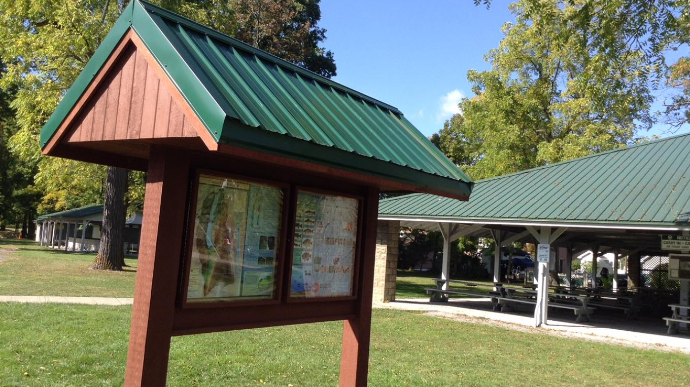 Information Kiosk, Picnic Pavilion and Barbecue Pit at Long Point Park