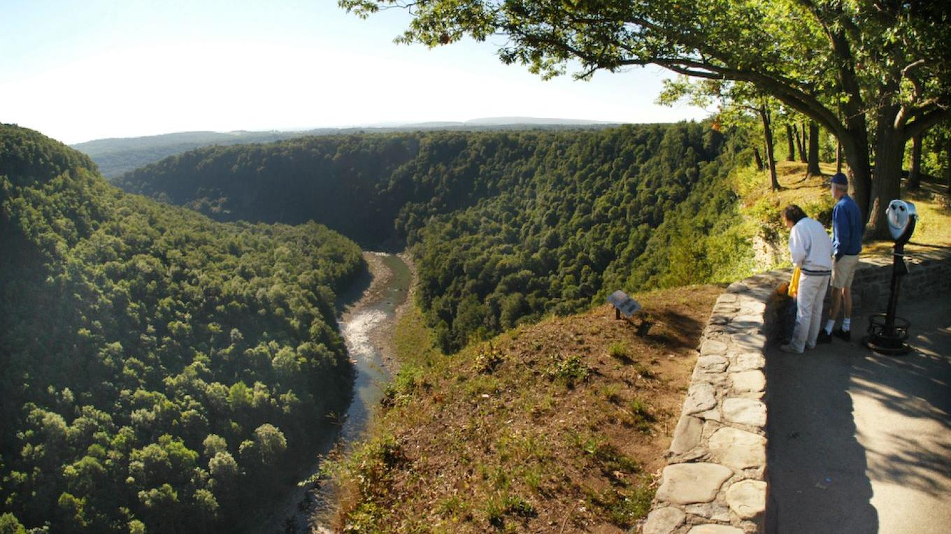 Letchworth State Park Gorge and Genesee River