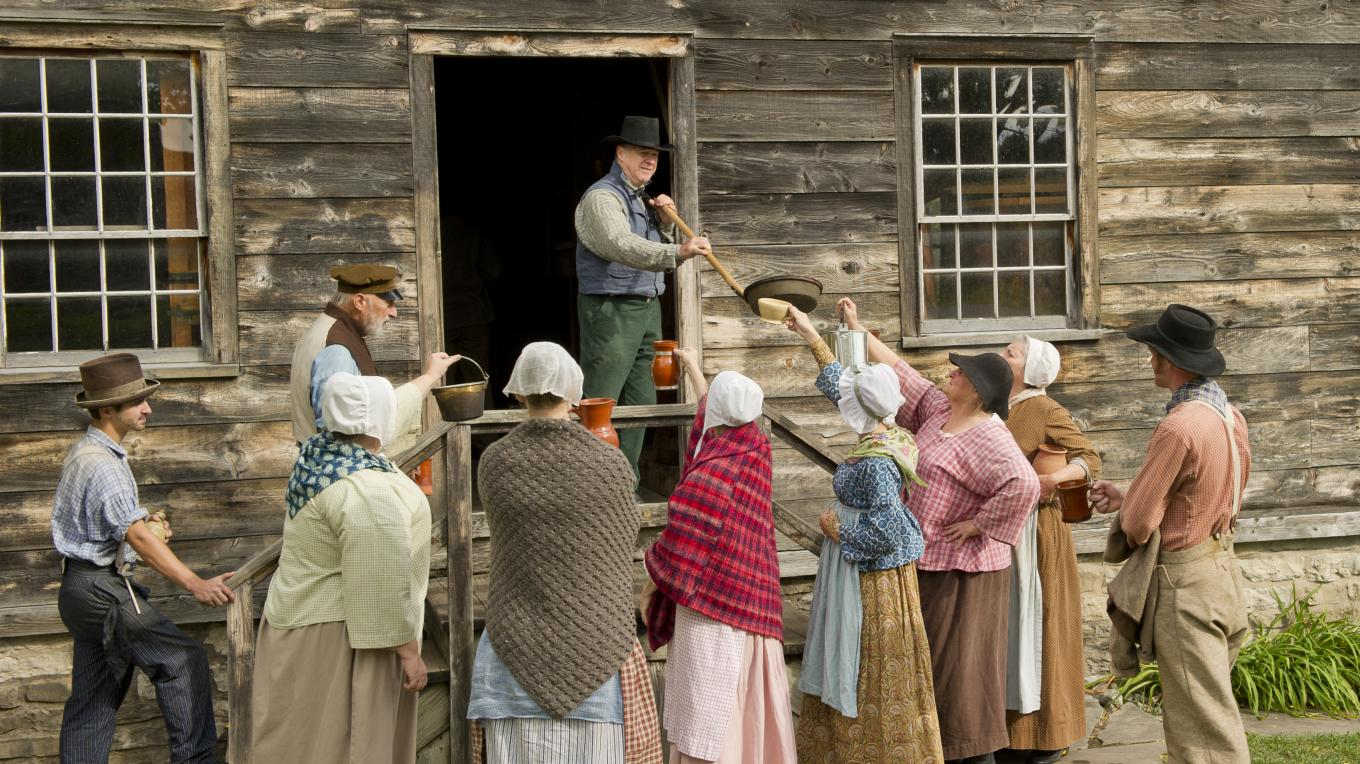 Genesee Country Village and Museum hop harvest