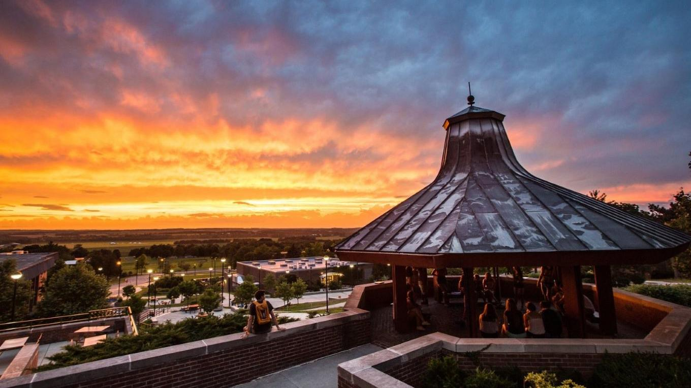 Famous View of the Genesee Valley Sunset from the SUNY Geneseo Gazebo