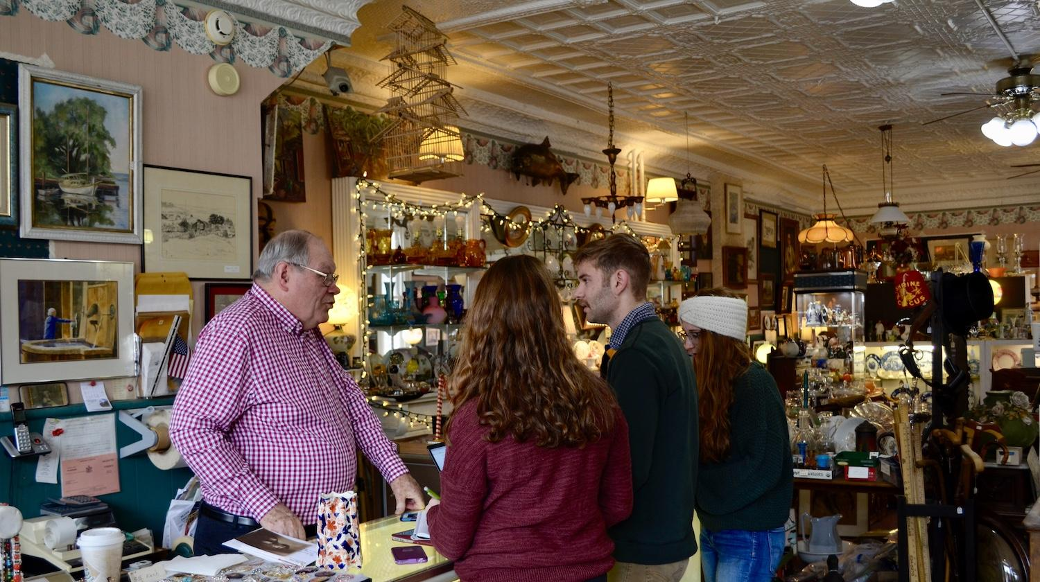 Allegiance Antiques and Proprietor Ed Phillips, Mount Morris