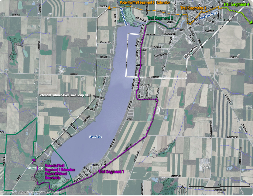 Future Silver Lake Outlet Trail Map, 2017 Feasibility Study.