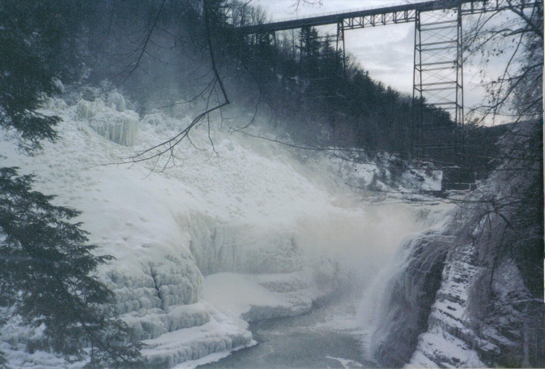 Letchworth's Upper Falls in Winter