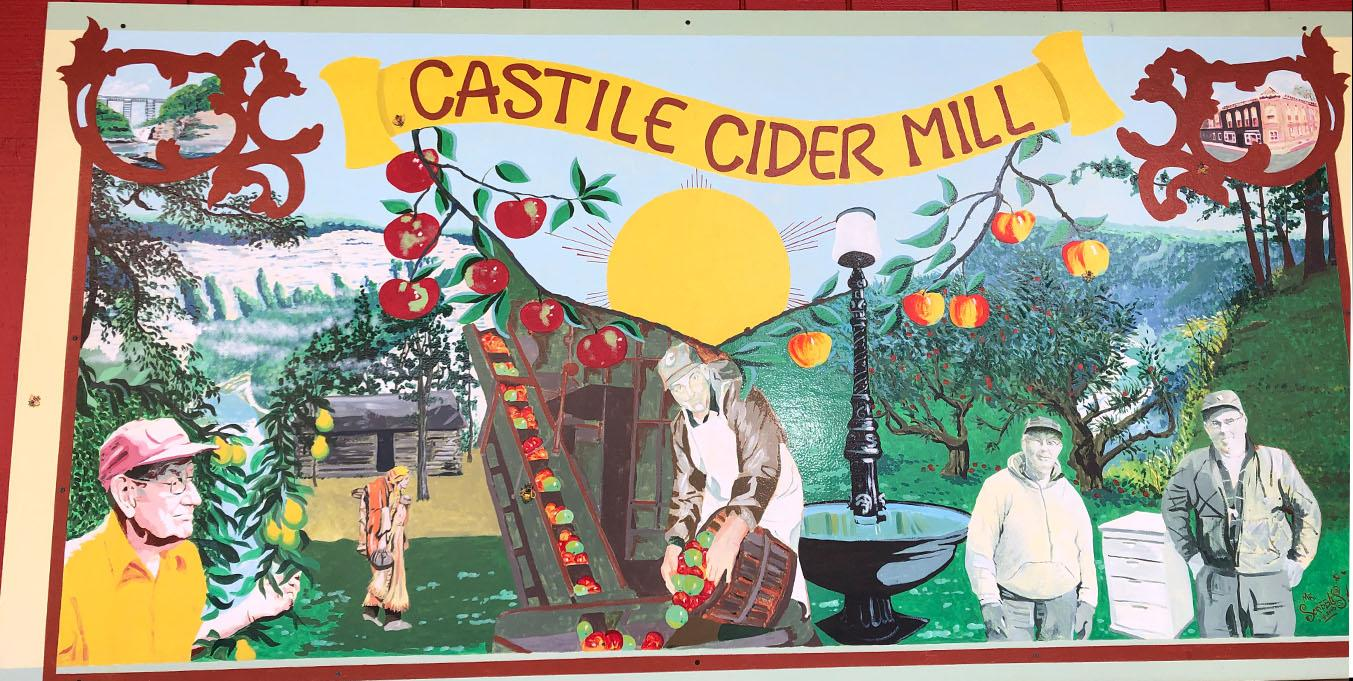 Mural at Castile Cider Mill. Photo by Sarah Keeler.