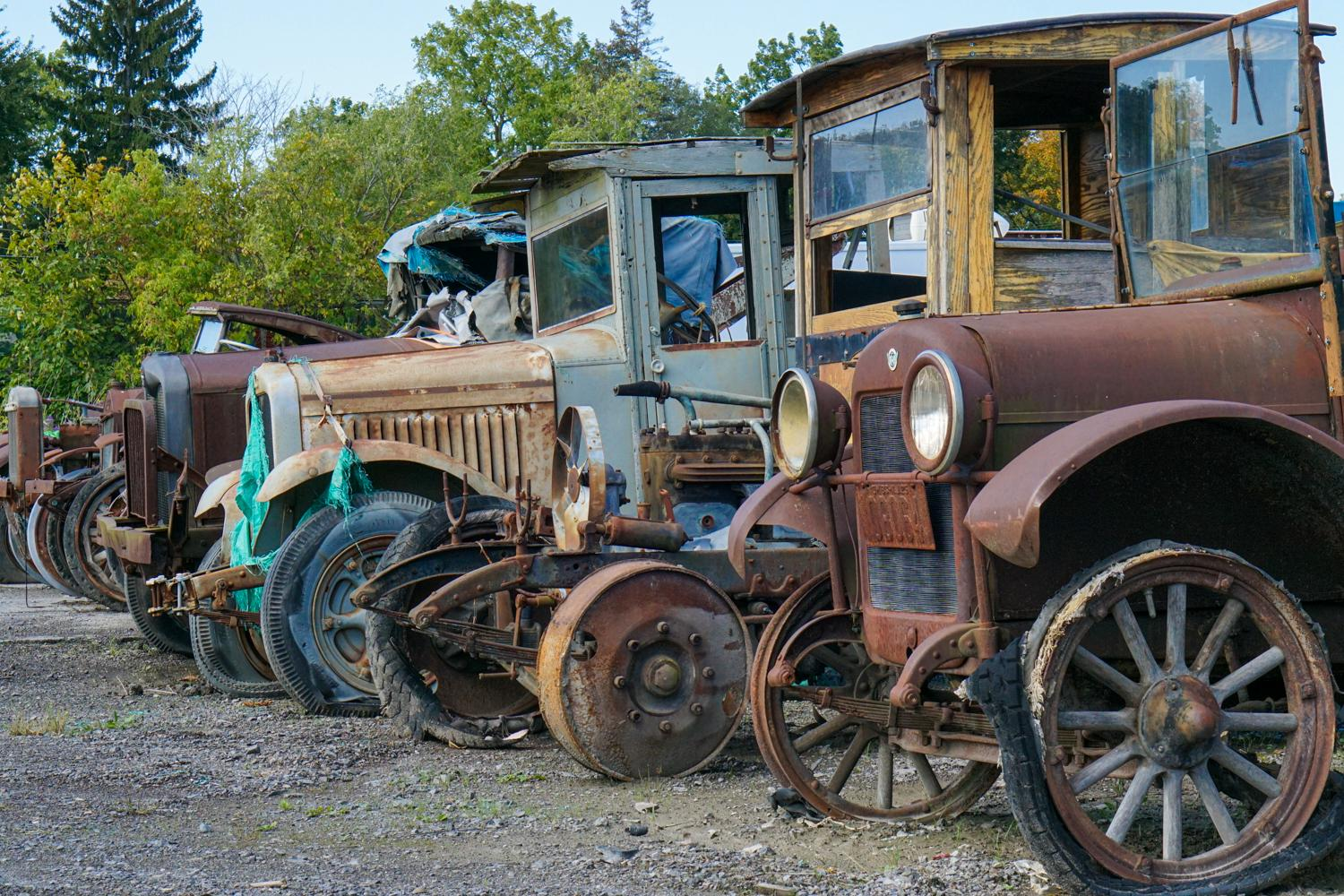 Antique Cars in Greigsville.  Photo credit: Chris Clemens
