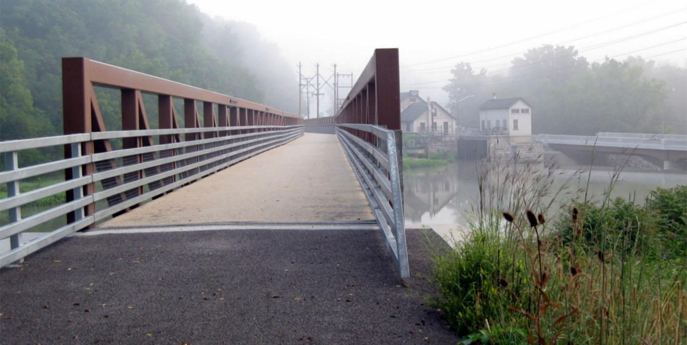 The Genesee Valley Greenway, as seen here in Mt. Morris, is part of the Triple Divide Trail System. Photo by Allen Kerkeslager.