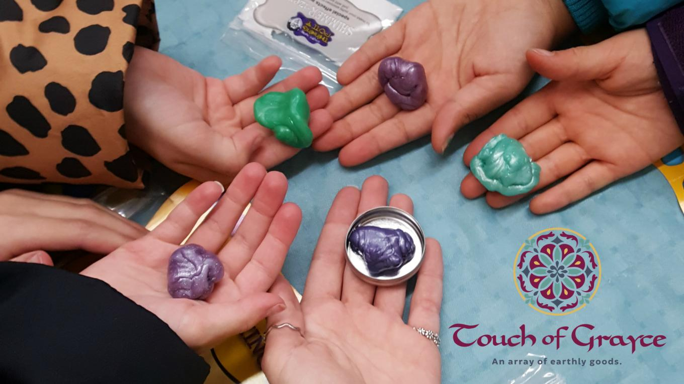 Putty? Slime? Goo? Kids all love it! During Neighborhood Toy Store Day you can design your own! This great craft is safe for many ages and is not messy!
