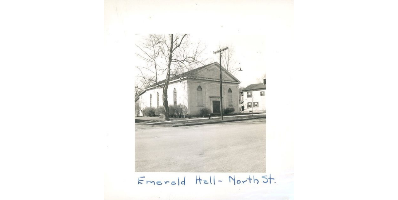 Original St. Mary's Church in Geneseo, remodeled in 1903 to serve as parish center known as Emerald Hall. Photo from Livingston County Photo Archive.