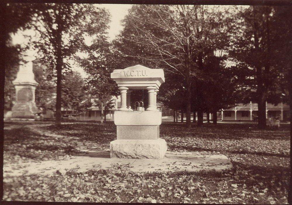 WCTU Water Fountain in Avon Village Park.