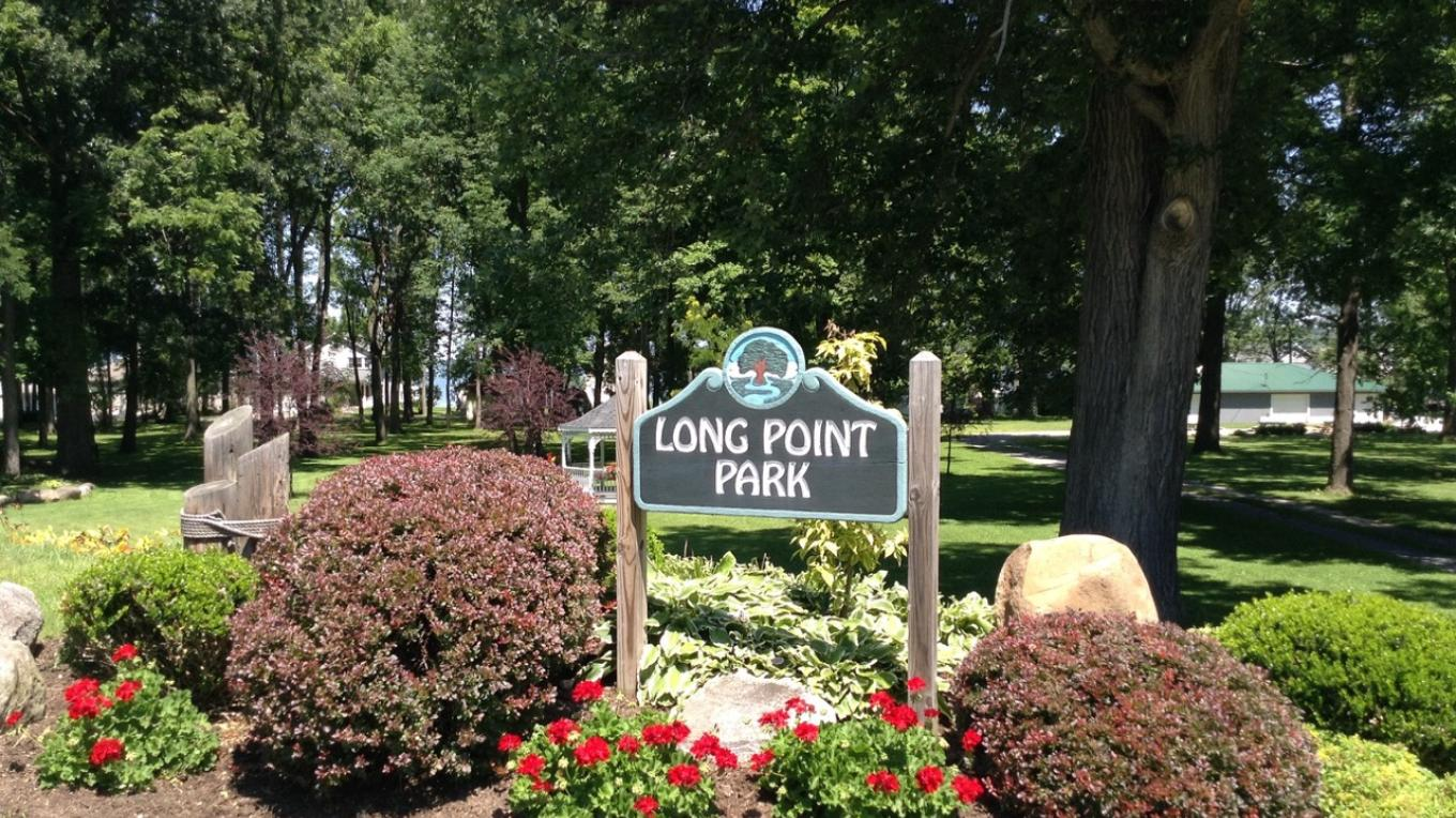 Long Point Park, Town of Geneseo - This entry sign garden is maintained by the Geneseo Garden Club.