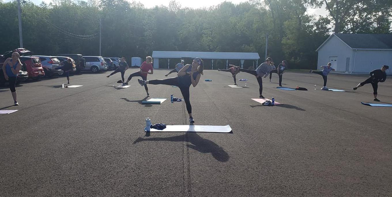 Outdoor class at Thrive 24/7. Photo from business.