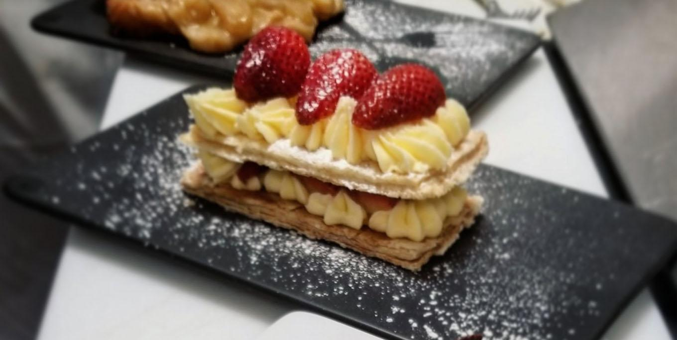 Mille feuille dessert at Ration Wine Bar.