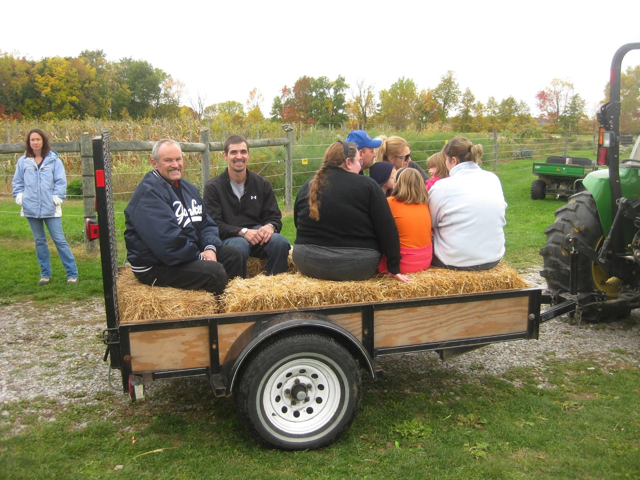 Hayride at the Harvest Festival.
