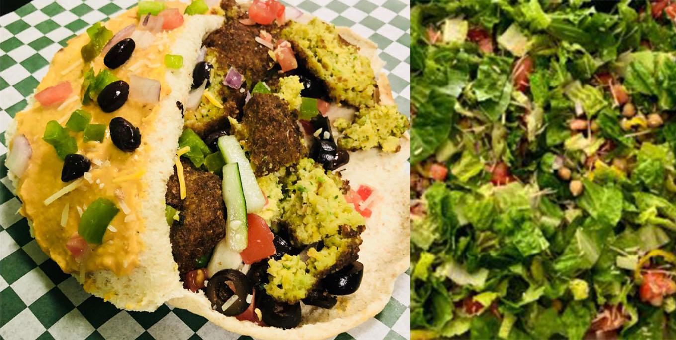 Falafel and a hearty salad at Lighter Side Eatery in Geneseo.