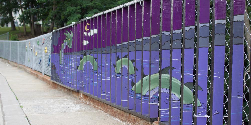 Sea Serpent Wall Mural, Borden Street
