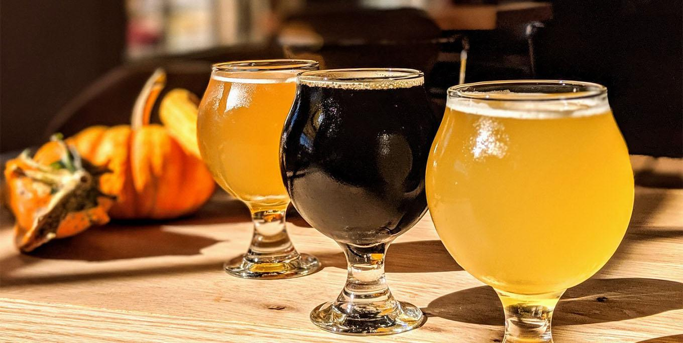 Autumnal beer lineup at Silver Lake Brewing Project in Perry. Photo by brewery.