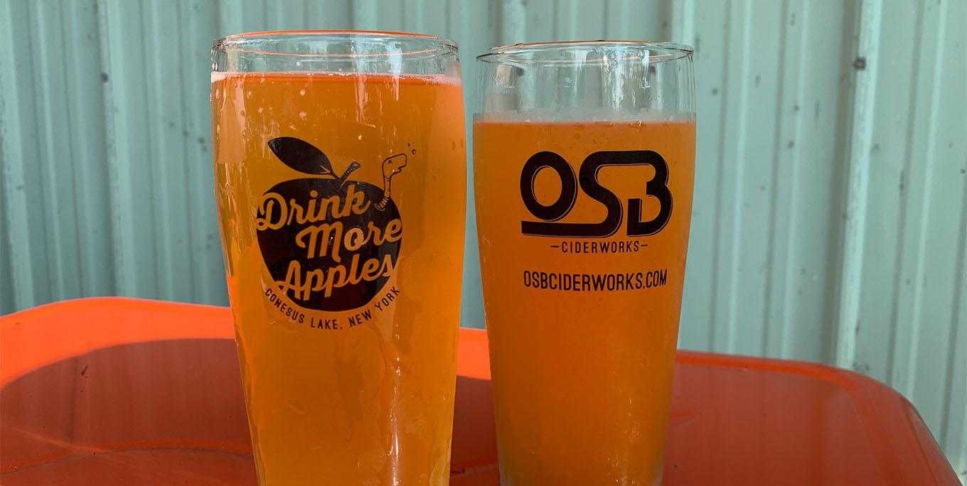 Hold the Crust Apple Pie Cider from OSB Ciderworks in Lakeville. Photo by Sarah Keeler.
