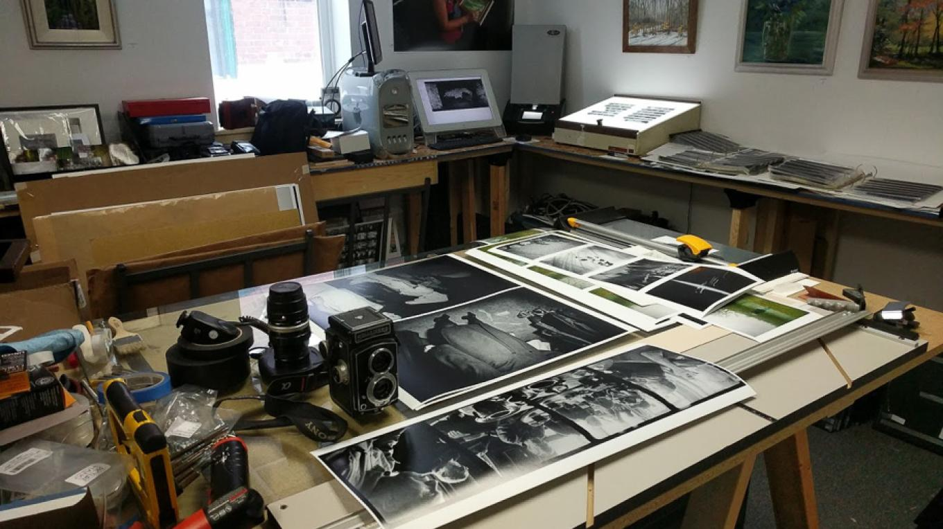 I work with both film and digital equipment.  After the film is scanned and the file processed in the computer, I make a number of test prints working up to the final size. – Robert Doyle