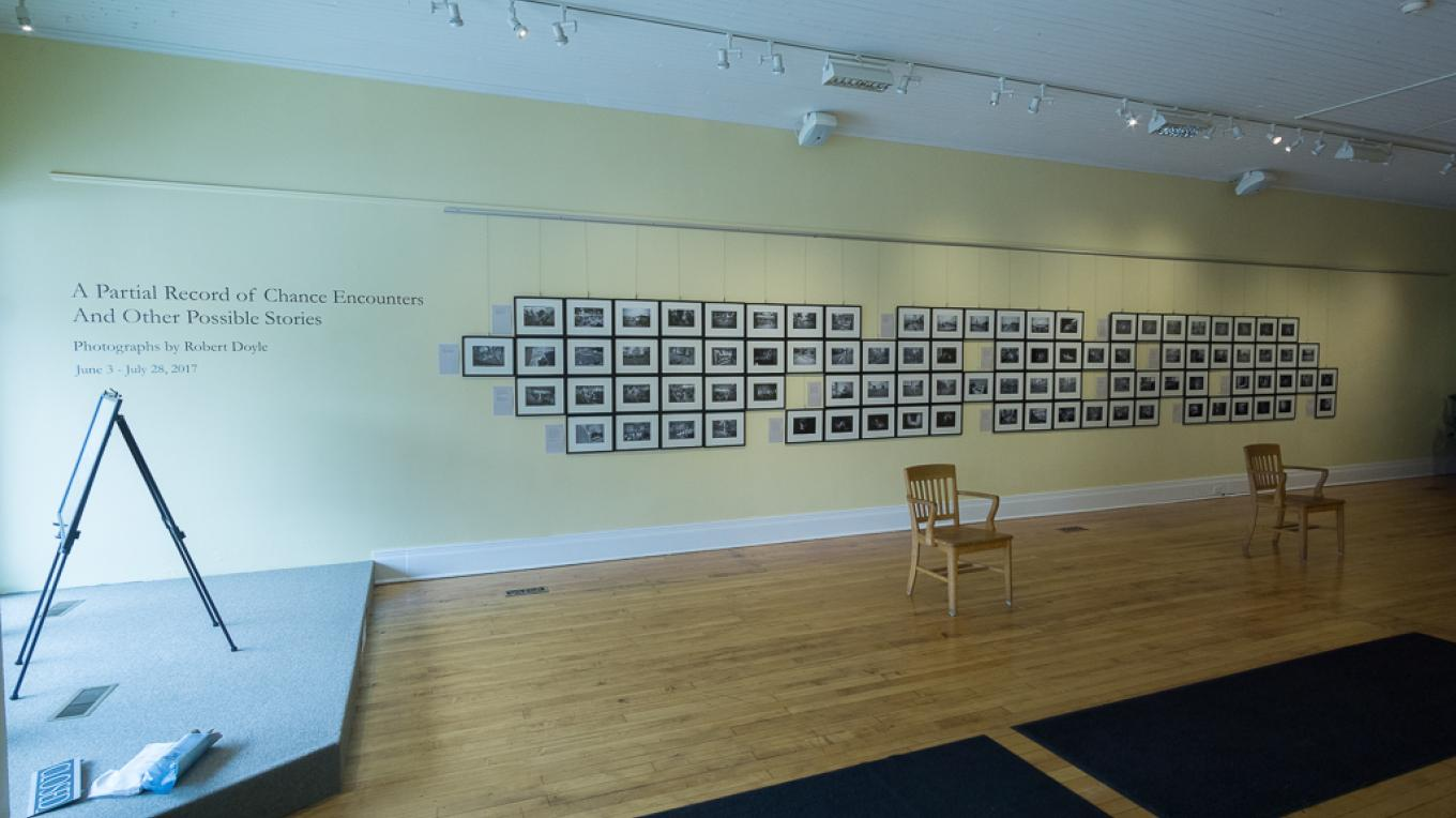 A Partial Record of Chance Encounters And Other Possible Stories - Photographs by Robert Doyle - June 3 - July 28, 2017 @ ACWC, Perry, NY – Installation view @ Arts Council for Wyoming County - Robert Doyle