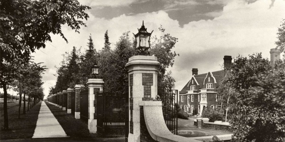 Circa 1910 West gate formal entrance