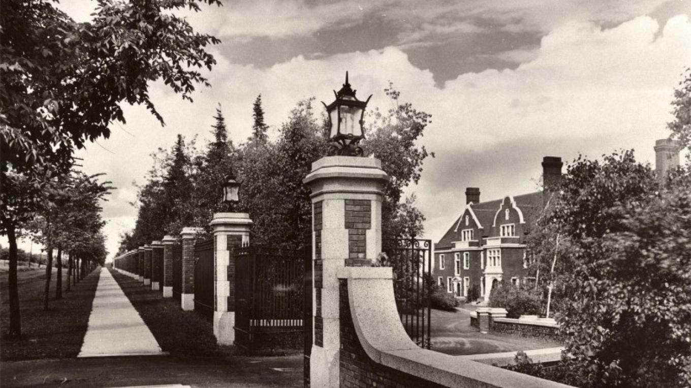 Circa 1910 West gate formal entrance