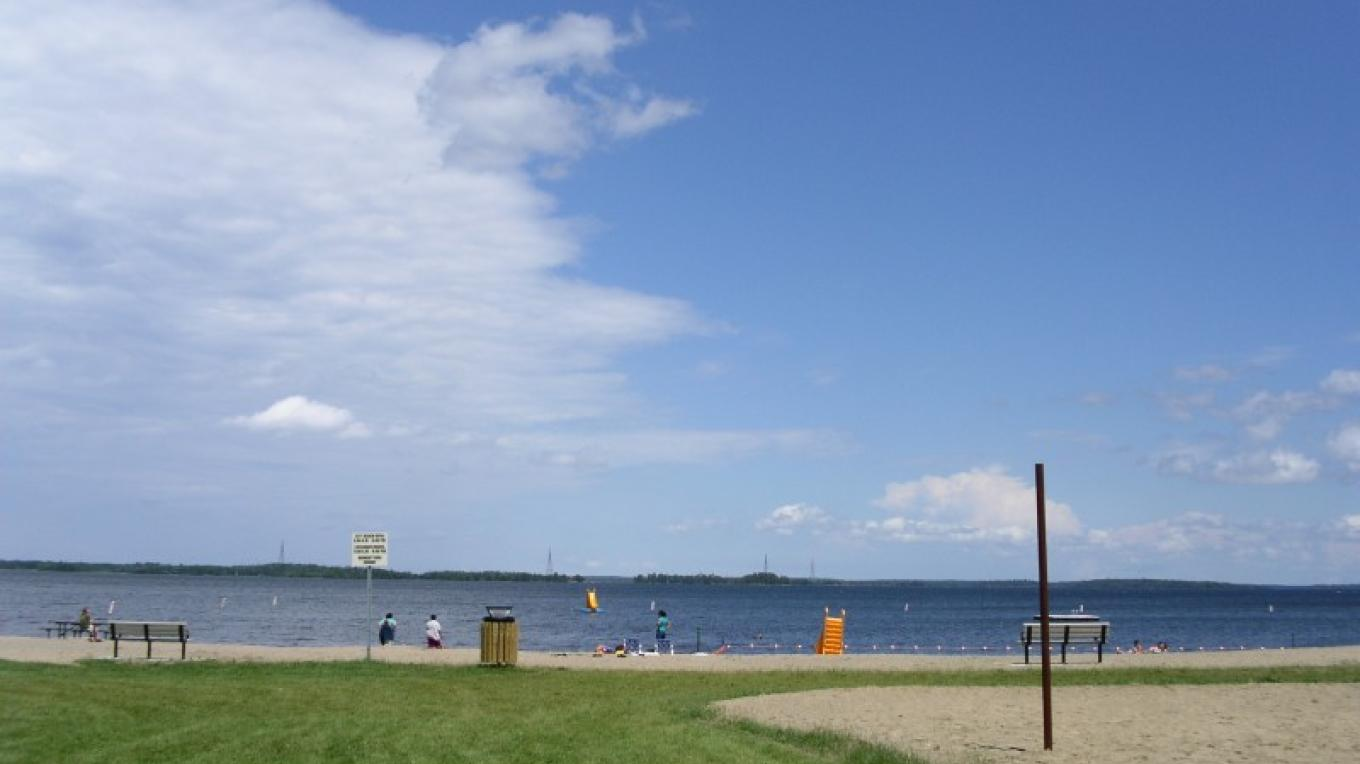 looking north into Canada from International Falls City Beach – international falls, rainy lake and ranier CVB