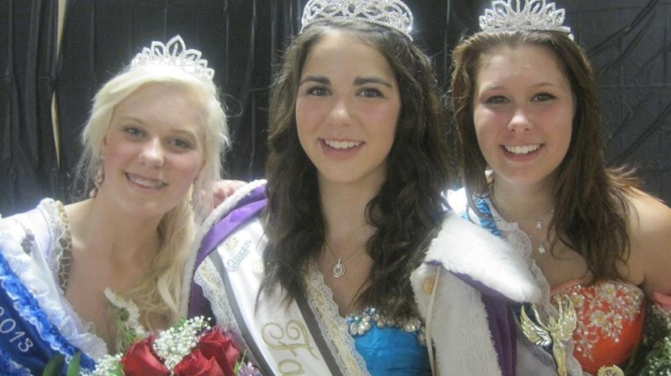 The crowning of the fair queen is a highlight of the weekend, with young girls from across the Rainy River Valley competing for the honour to be Fair Queen. – RRVAS Volunteers