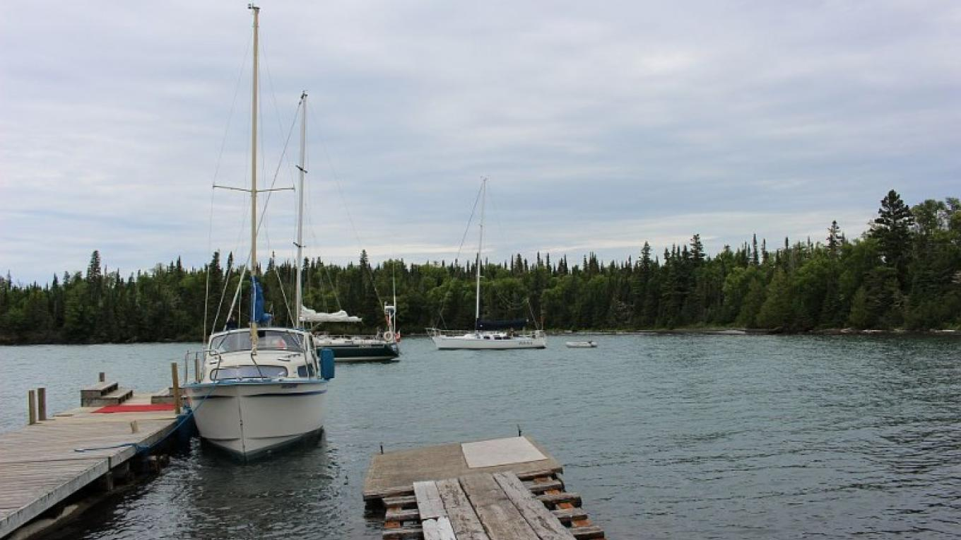 You need to have a boat or charter a boat as one way to get to Porphyry. The Canadian Lighthouses of Lake Superior group have made modest upgrades to the dock. You will need a dingy to ferry in, if arriving by sailboat. – Stephanie Reid
