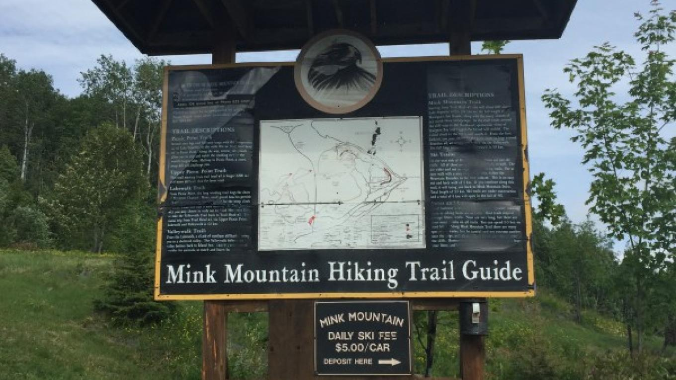 Trail Map at Main Reception – Courtney Lanthier