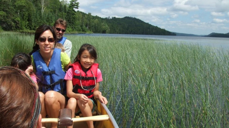 Family Canoeing on Pine Lake in the BWCA Wilderness – Carmela Nyemetz