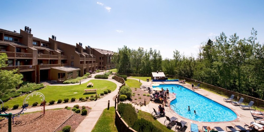 View of the Main Lodge and Outdoor pool