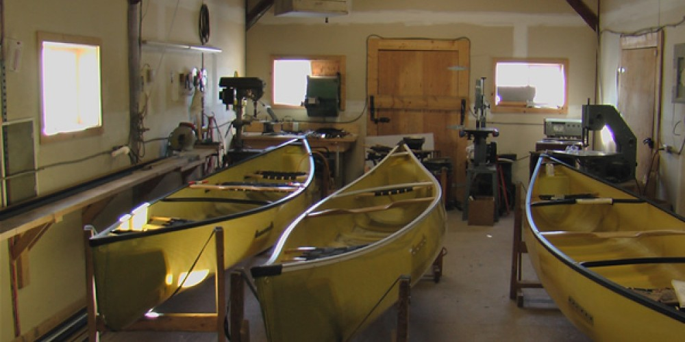 Canoes ready for their final prep before completion! – Seth Wotten - Water for Future Generations