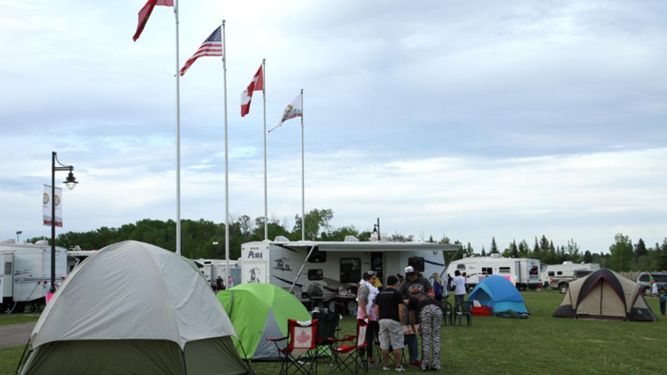 The campground is a popular spot to enjoy the summer – Fort William Historical Park