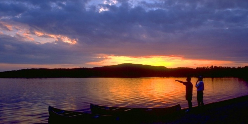 Afterglow in the Canadian Wilderness. The White Otter Wilderness provides some of Ontario's finest paddling. – J. Noltner