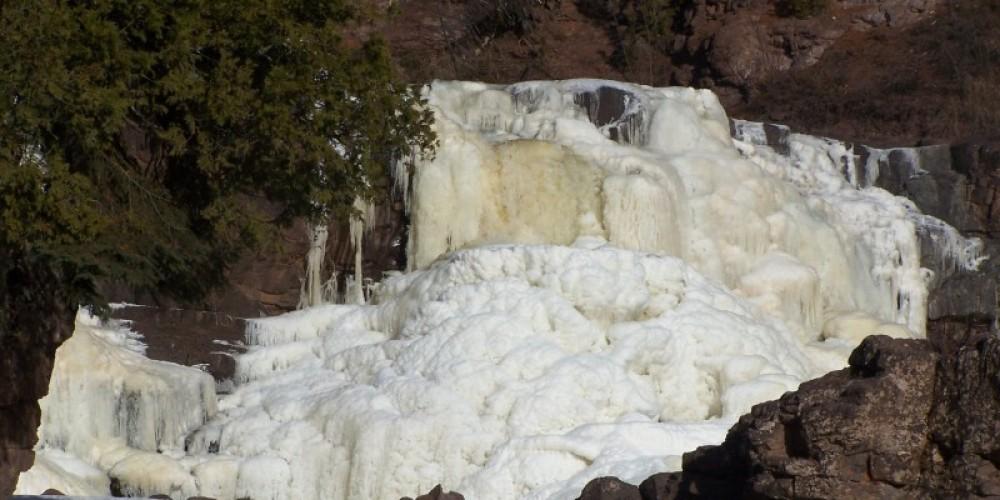 Frozen falls in winter – Michael Reed