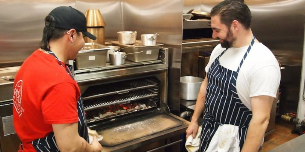 Lighting the Josper Grill - one of only 3 in Canada. – Duncan Weller