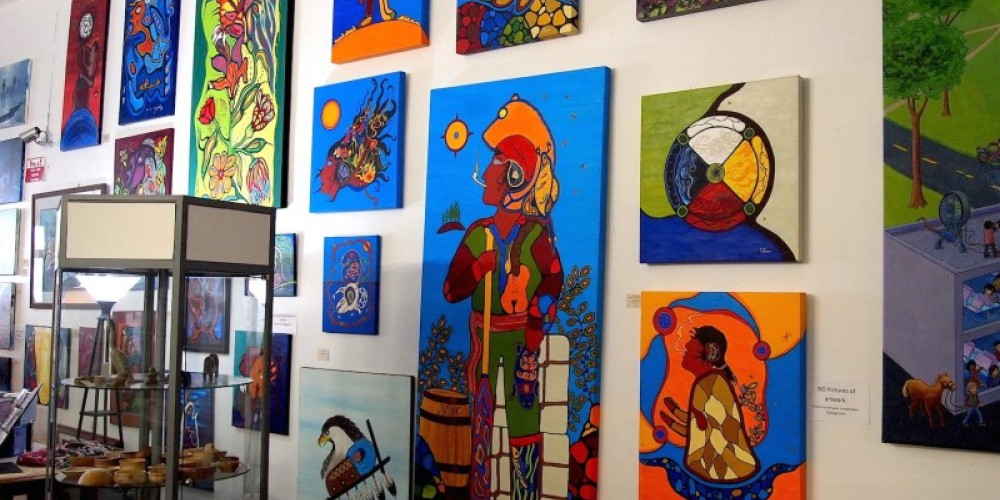 One of the largest collection of First Nation art in Northwest Ontario. – Duncan Weller