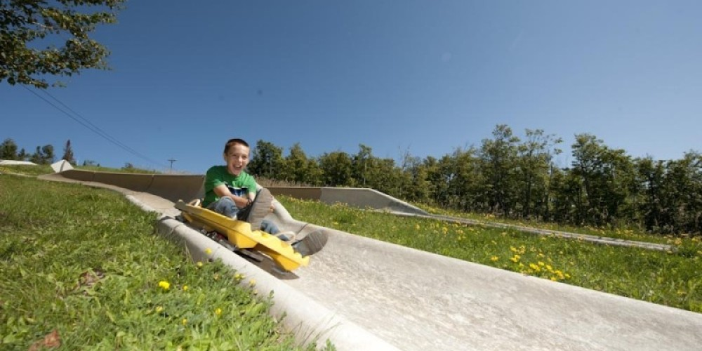 A another attraction at Lutsen Mountains is the Alpine Slide.