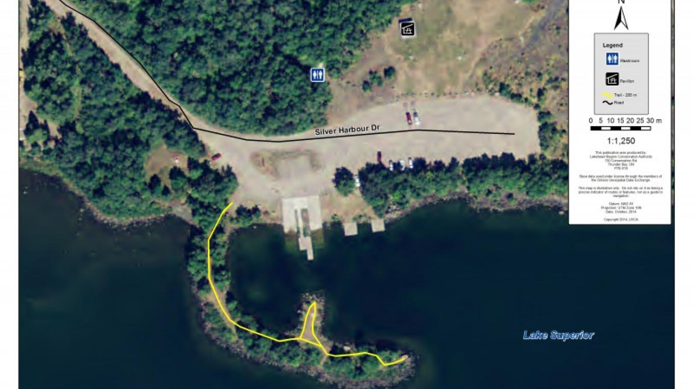 Silver Harbour Conservation Area Trail Map – LRCA Staff