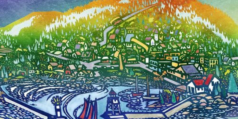 """""""Grand Marais Poster"""" – Rick Allen"""